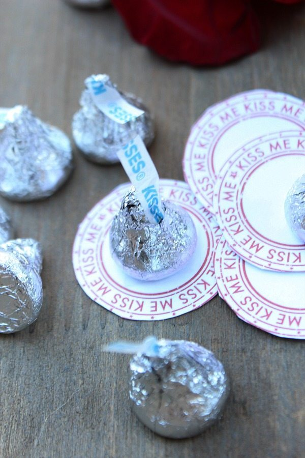 Kiss me Kiss coins for Valentine's Day