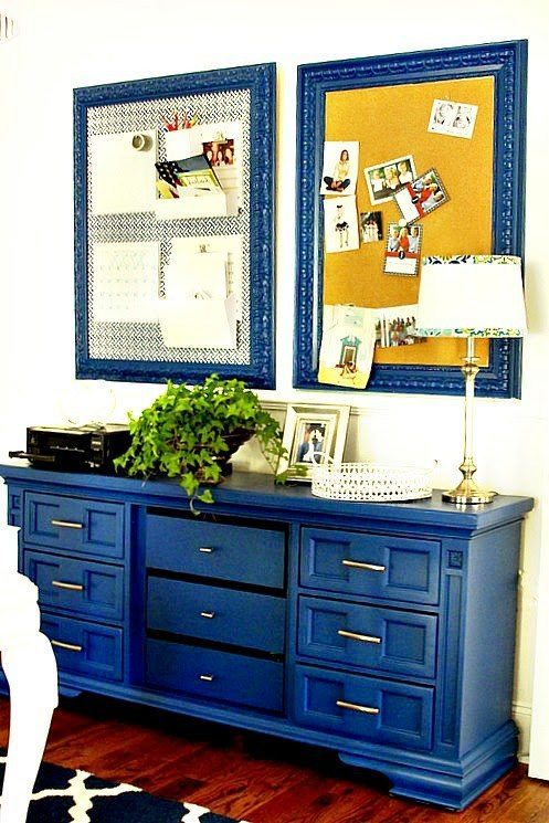 Sherwin Williams Dignity Blue Dresser Makeover From Duke Manor Farm