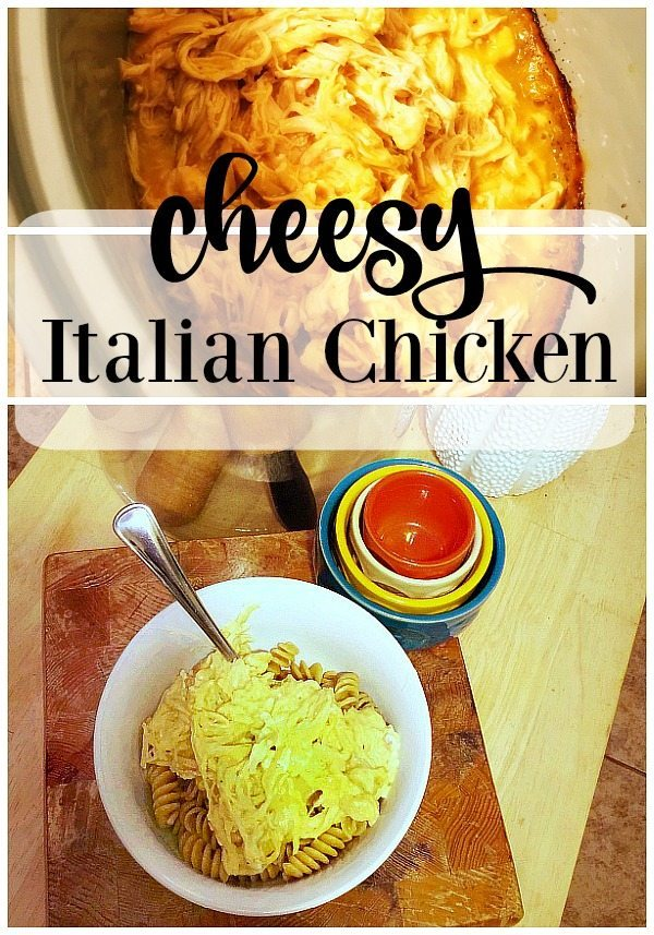 Slow cooker Cheesy Italian Chicken recipe - A treat for the whole family - kids love it!