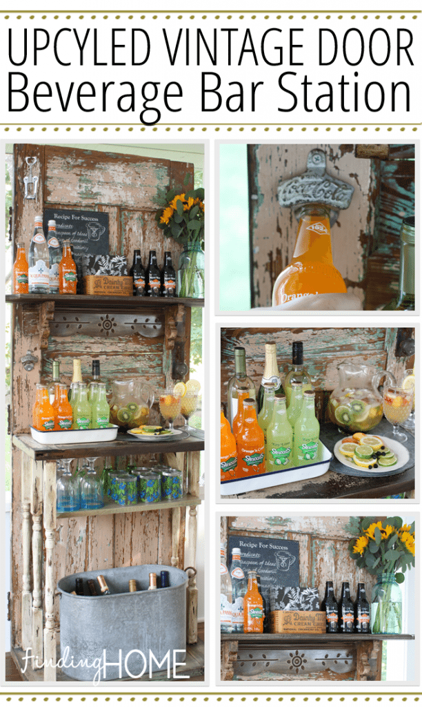 Gorgeous Farmhouse Projects - Upcycled-Vintage-Door-Beverage-Bar-Station