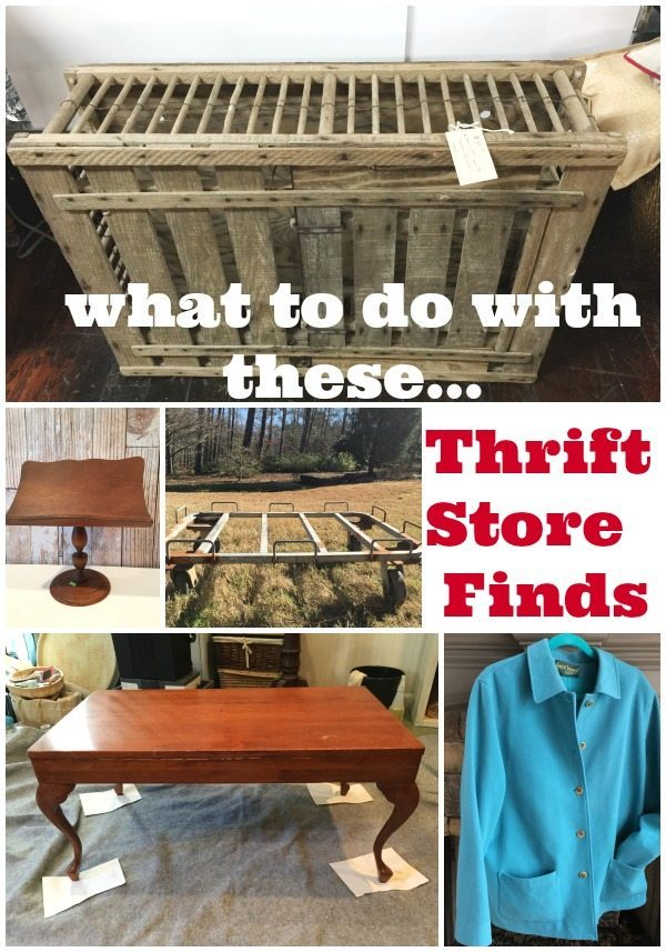 What to do with those Thrift Shopping treasures!