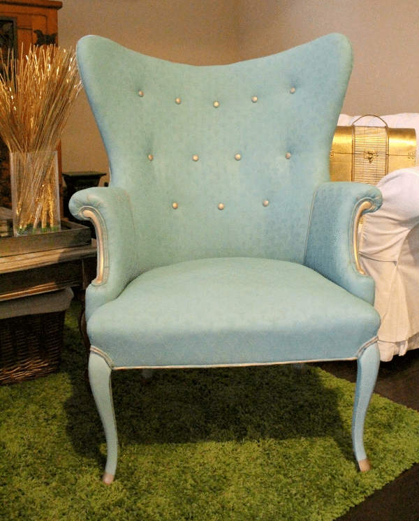 annie-sloan-provence-chair-with-gold-accents from Fresh Idea Studio