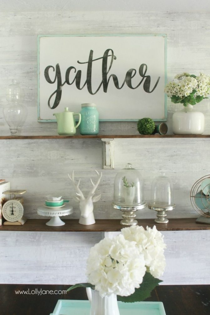 farmhouse-dining-room-shelves-Gorgeous Farmhouse Projects
