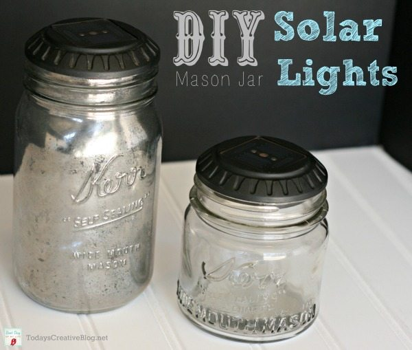 06 - Todays Creative Life - Mason Jar Solar Lights