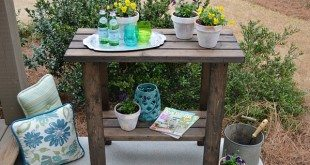 2 X 4 Potting Bench Plan - Create your own for under $15 in no time!
