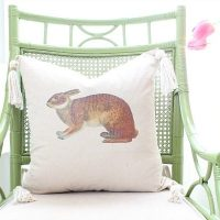 Easter Bunny Pillow - easy do it yourself bunny pillow with tassels