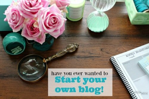 Have you thougjt about Starting a Blog