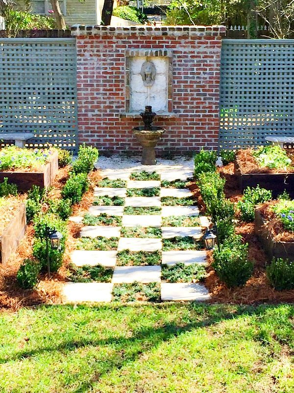 Garden idea from Southern Romance Idea home in Mobile Al with Phantom Screens