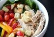 Grilled Chicken with Wish Bone Italian dressing and fresh homemade croutons
