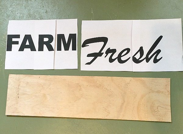 How to make a sign - Farm Fresh for the farmhouse decor you love!