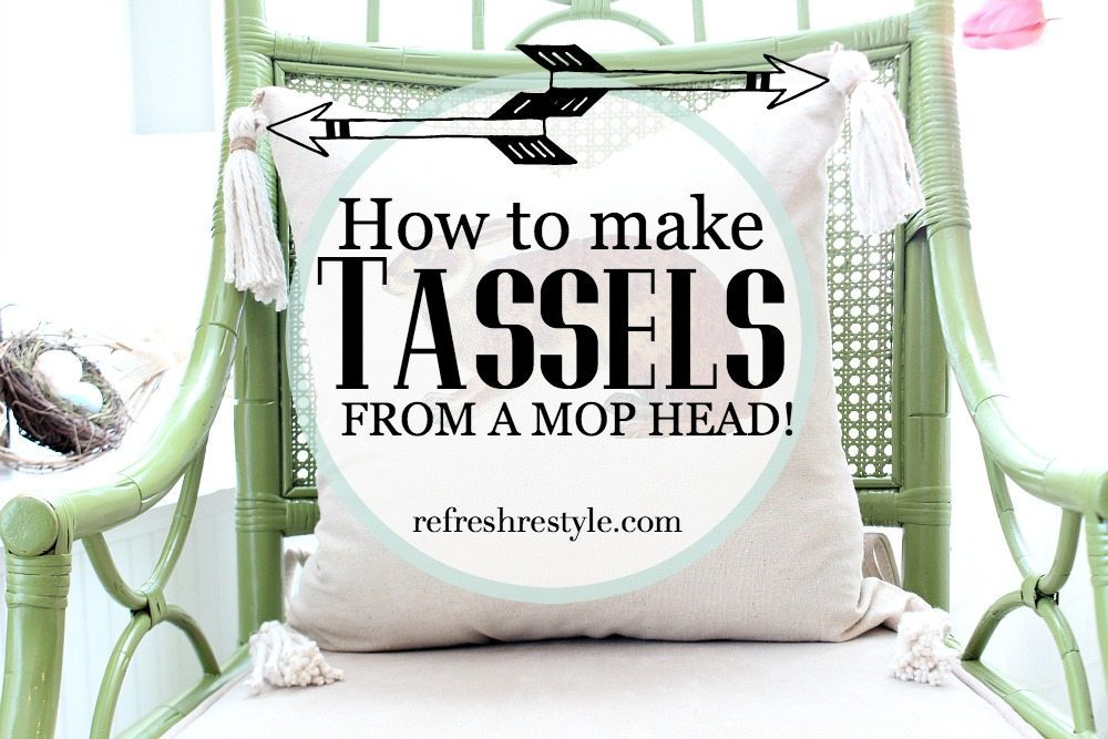 How to make tassels from a mop head