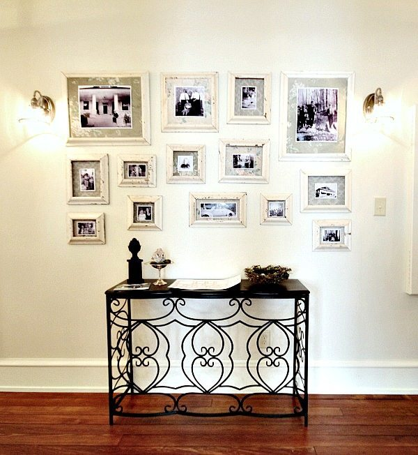 Ideas for creating frames from old molding at Southern Romance Phantom Screen Idea House