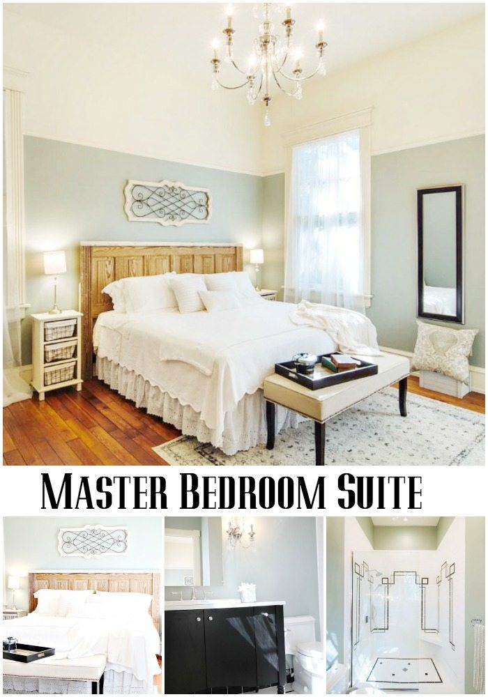 Master Bedroom Suite at Southern Romance Phantom Screen Idea Home in Mobile Al