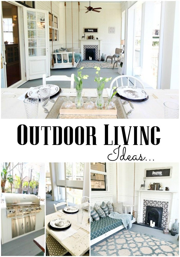 Outdoor Living Ideas at Southern Romance Phantom Screen Idea Home in Mobile Al