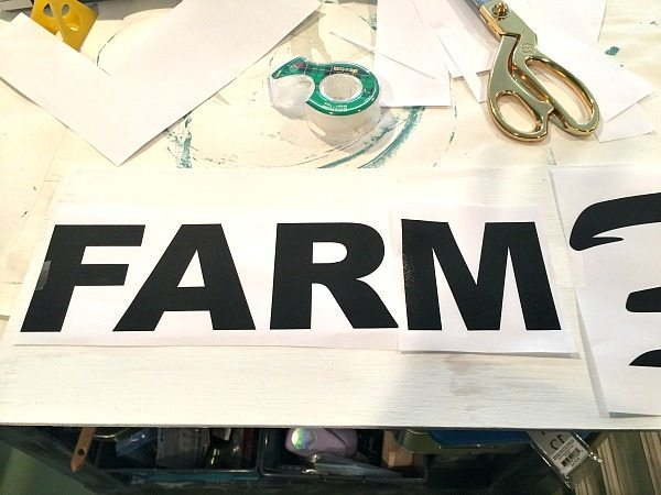 Place your print on top of the board make adjustments to center. How to make a sign the easy way.