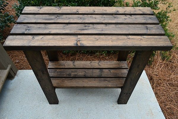 How to make a 2 x 4 potting bench - easy - inexpensive