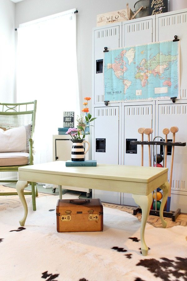 Queen Ann Coffee Table makeover from frumpy to fun