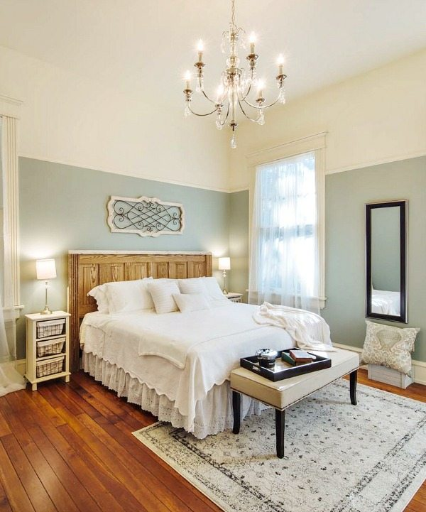 Relaxing Master Bedroom with Phantom Screens Southern Romance Home in Mobile Al