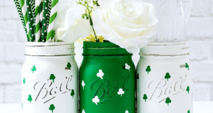 St Patricks Day Mason Jars