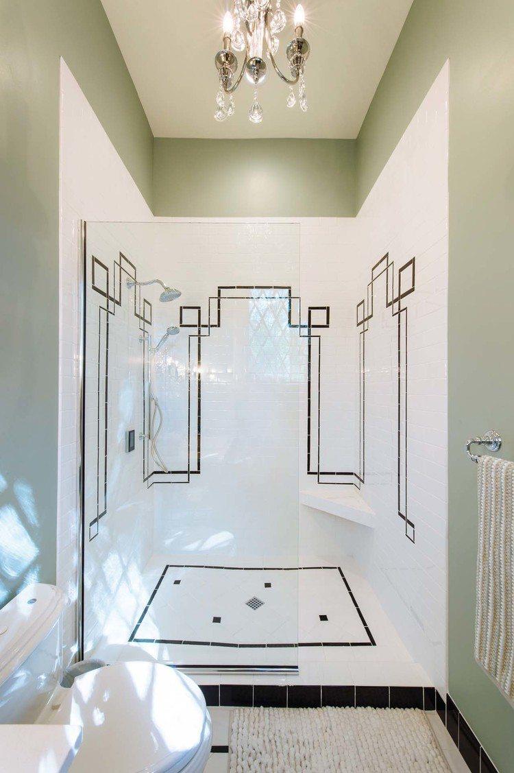 Master bathroom shower in the Southern Romance Phantom Screens idea home