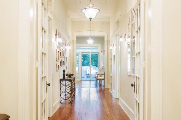 Welcoming Entry Hall at Phantom Screens Southern Romance Home