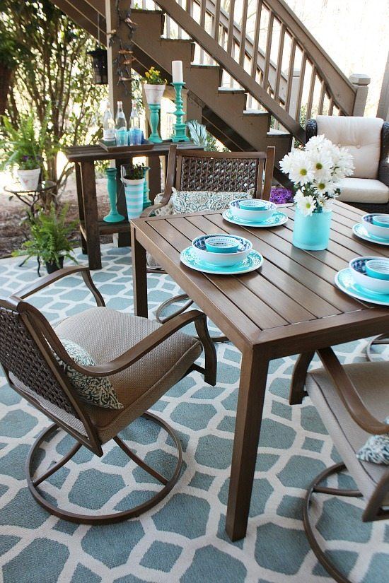 Aquas on the patio Refresh Restyle spring home tour