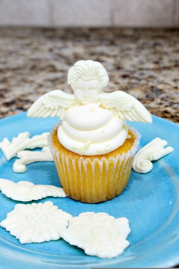 Cupcake toppers made with vintage moulds
