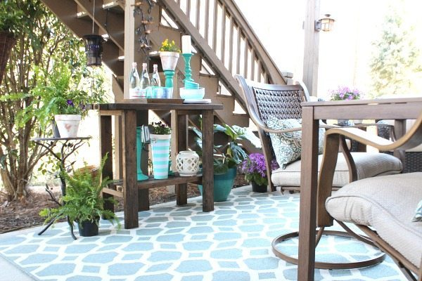 Custom buffet table - Outdoor Patio Refresh - Spring is here and so is entertaining season. We love spending time outside