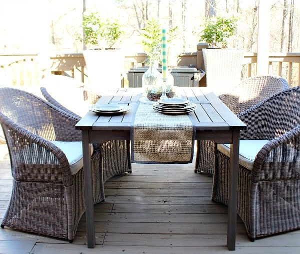 Deck at Refresh Restyle spring home tour