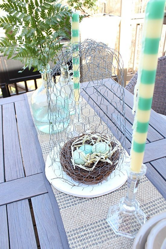 Deck dining at Refresh Restyle spring home tour