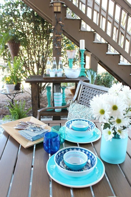 Downstairs patio Refresh Restyle spring home tour