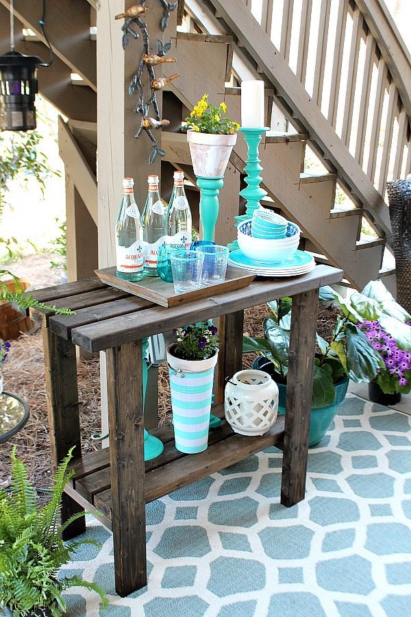 Drinks on the patio - Outdoor Patio Refresh - Spring is here and so is entertaining season. We love spending time outside - Affordable Outdoor Living