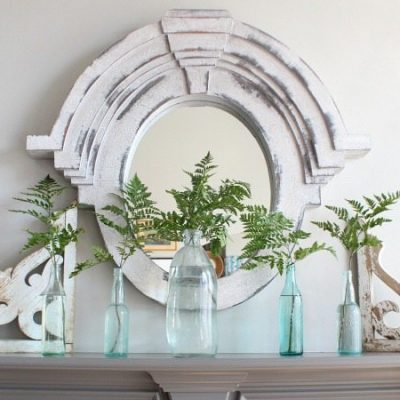 Fern mantel Refresh Restyle spring home tour