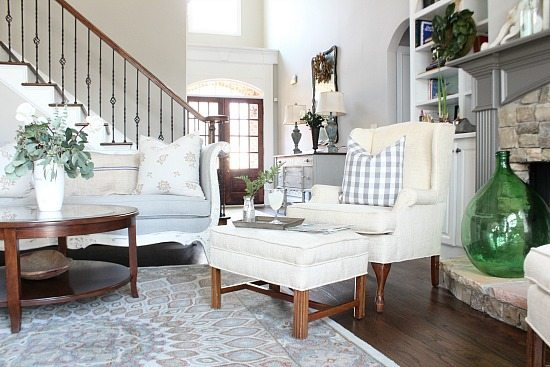 Living Room at Refresh Restyle spring home tour