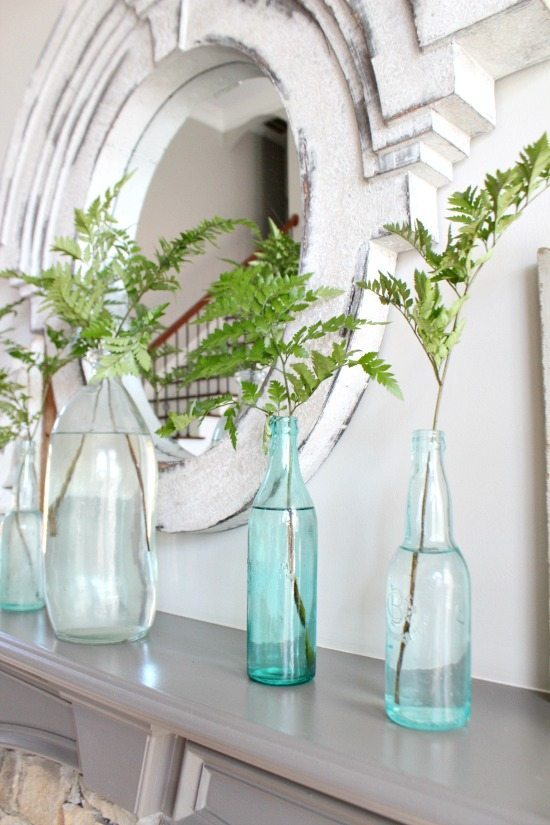 Mantel Refresh Restyle spring home tour