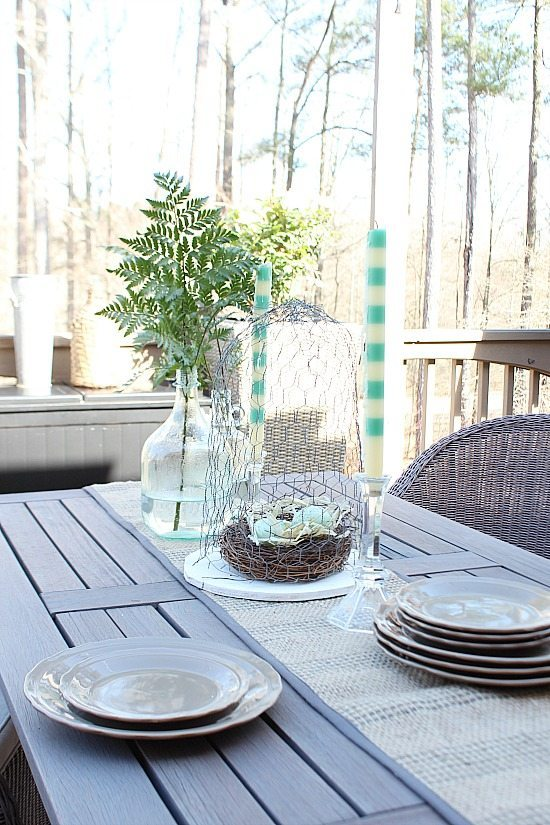 Spring deck at Refresh Restyle spring home tour