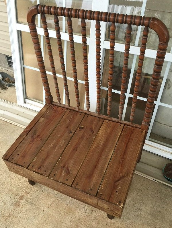 Bench after vinegar and steel wool treatment