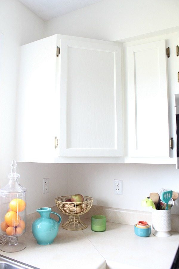 Corner cabinet - SW Dover White cottage makeover