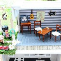 Dining area with outside pergola Dollhouse at Refresh Restyle