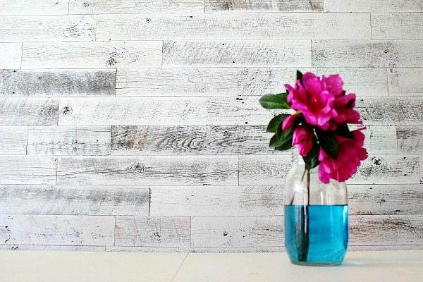 Farmhouse wall treatment with Weathered white Stikwood at Refresh Restyle