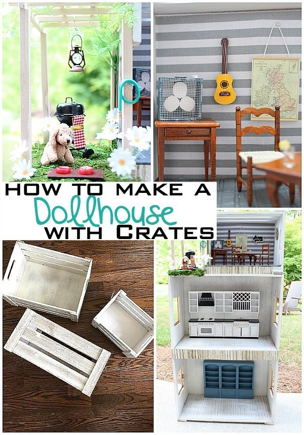 How to make a dollhouse with crates at Refresh Restyle