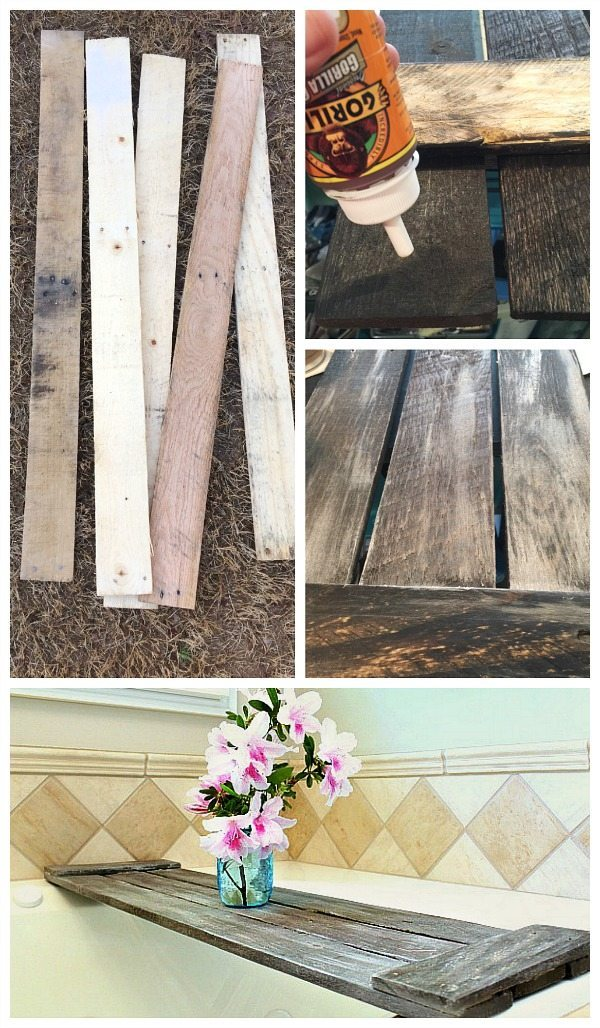 How to make a tub tray - Pallet tub tray - easy do it yourself pallet project