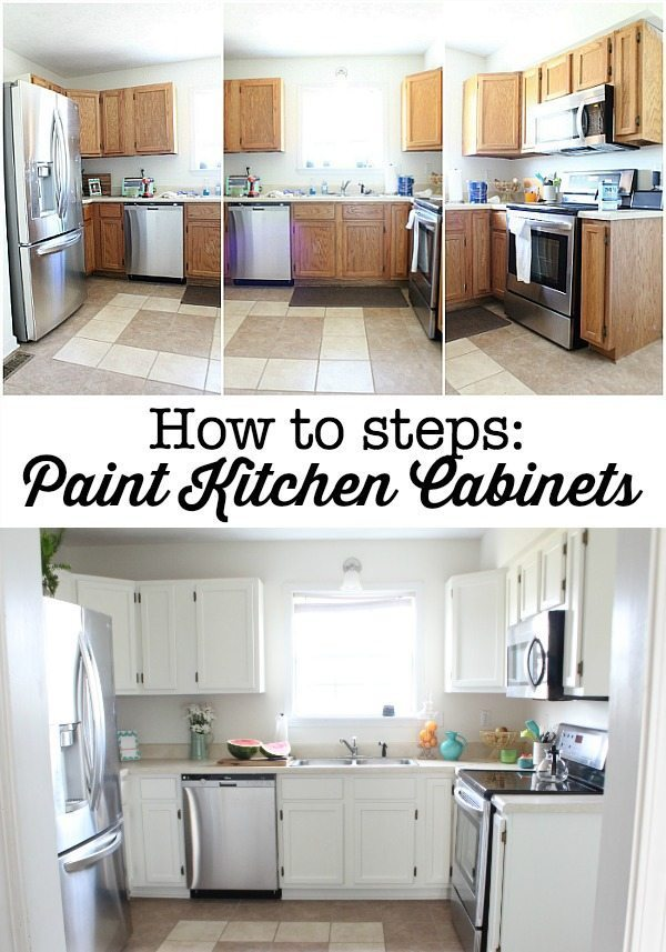 How to steps - paint your kitchen cabinets