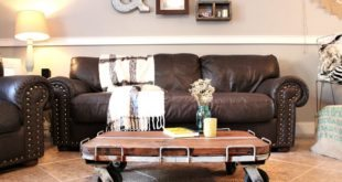 Industrial Coffee table DIY from junk store find at Refresh Restyle