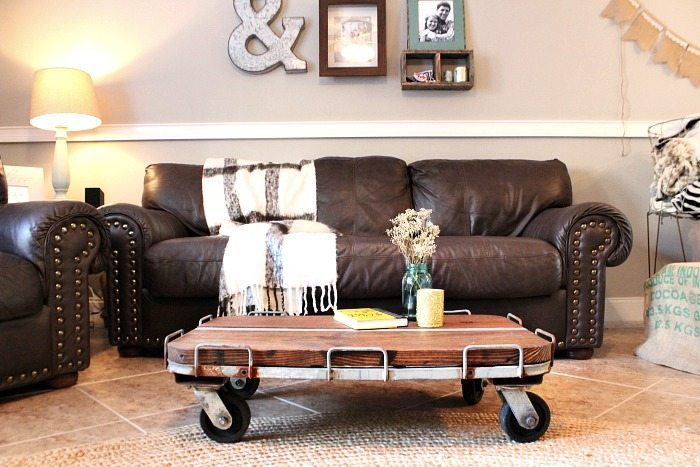 Repurposed - Industrial Coffee table DIY from junk store find at Refresh Restyle