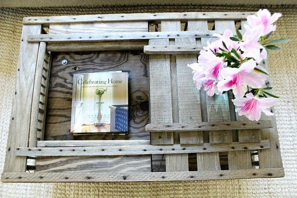 Open area for magazines coop crate coffee table at Refresh Restyle