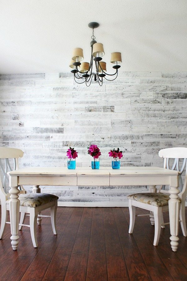 Weathered white wall to create a fab farmhouse look at Refresh Restyle