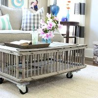 You can turn a chicken coop in to a coffee table Refresh Restyle