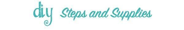 diy steps no affiliate links