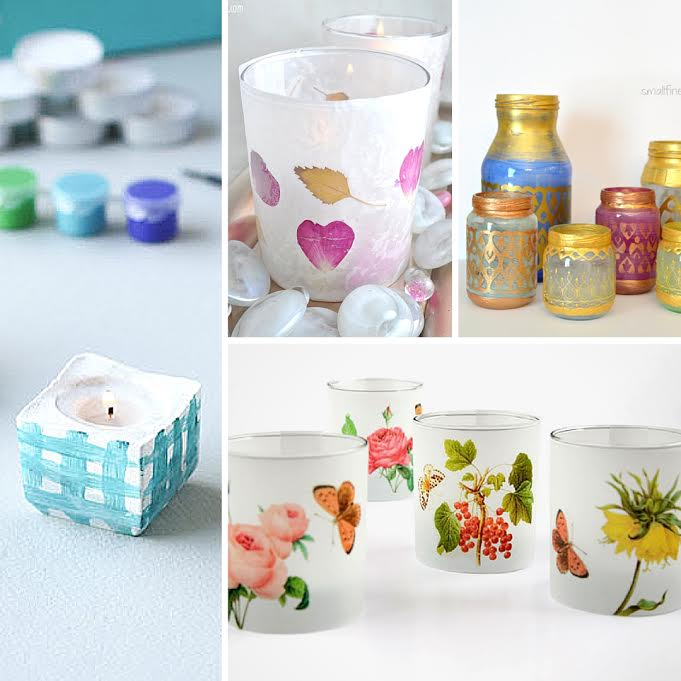 Beautiful ideas! 30 Chic and Colorful DIY Candle Votive Ideas